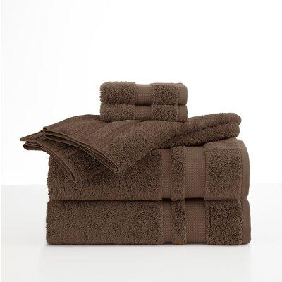 Supima Luxe 6 Piece Towel Set Color: Dark Brown