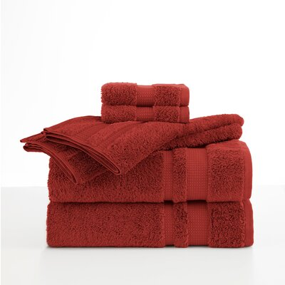 Supima Luxe 6 Piece Towel Set Color: Garnet Red