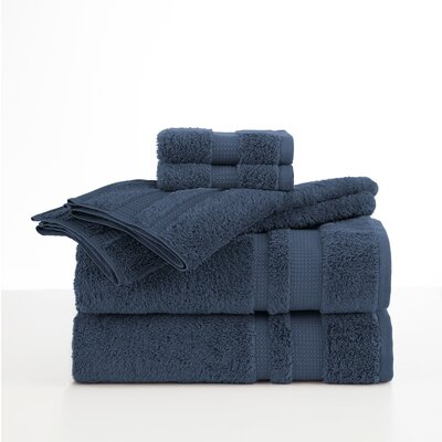 Supima Luxe 6 Piece Towel Set Color: Navy Blue