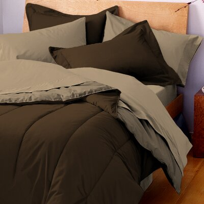 Gil Reversible Comforter Size: Twin, Color: Chocolate / Khaki