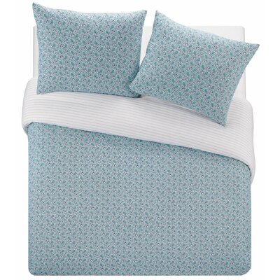 Creissant 100% Cotton Reversible Duvet Set Size: Twin
