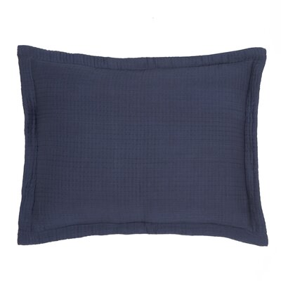 Baldridge Sham Color: Indigo, Size: Twin
