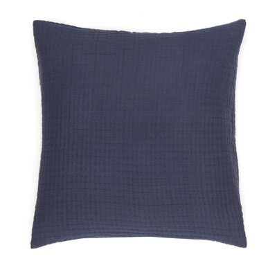 Baldridge Decorative 100% Cotton Throw Pillow Color: Indigo