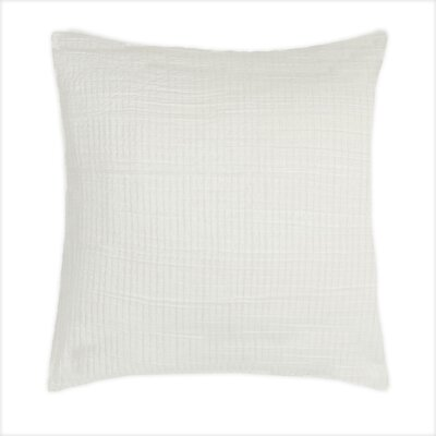 Baldridge Decorative 100% Cotton Throw Pillow Color: Ivory
