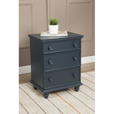 Richards 3 Drawer Nightstand Color: Blueberry