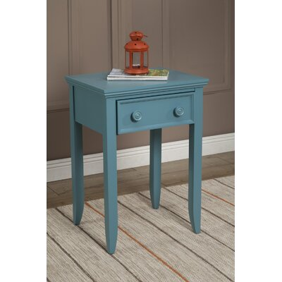 Baileyville 1 Wood Drawer Nightstand Color: Teal