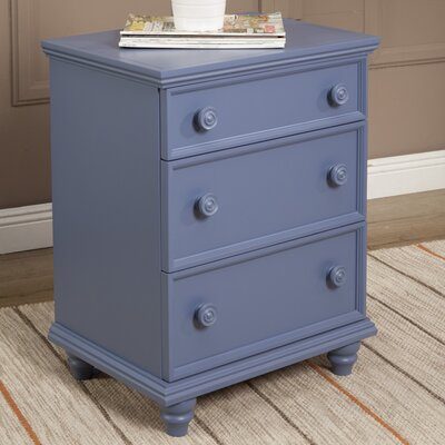 Richards 3 Drawer Nightstand Color: French Blue