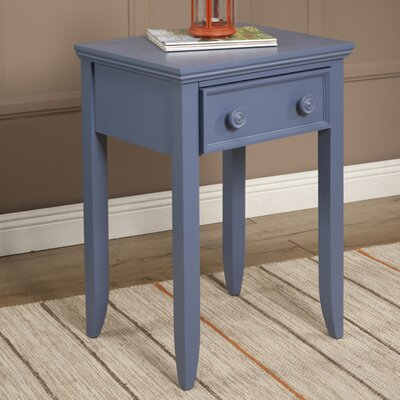 Baileyville 1 Wood Drawer Nightstand Color: French Blue