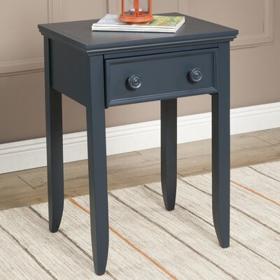 Baileyville 1 Wood Drawer Nightstand Color: Midnight Green