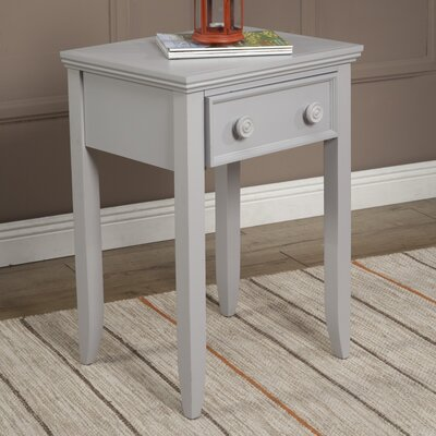 Baileyville 1 Wood Drawer Nightstand Finish: Winter Gray
