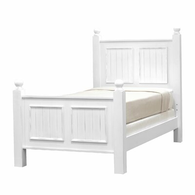 Feliciana�Twin Panel Bed Color: Bright White, Size: Twin