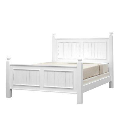 Feliciana�Twin Panel Bed Color: Bright White, Size: Full