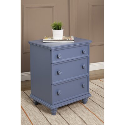 Tradewinds 3 Drawer Nightstand Color: French Blue