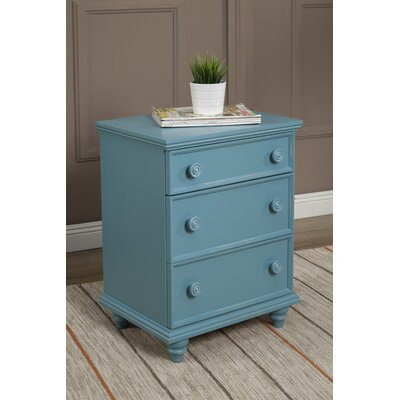 Tradewinds 3 Drawer Nightstand Finish: Teal