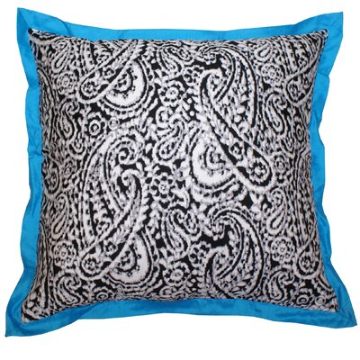 Lady Paisley Cotton Throw Pillow Color: Turquoise