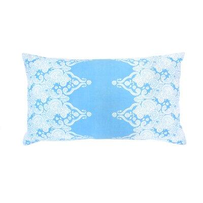 Monterey Paisley Lumbar Pillow Color: Aqua