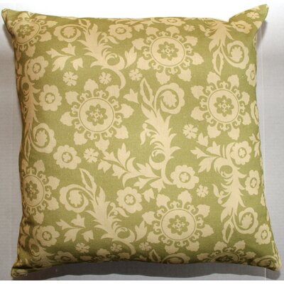 Roopa Throw Pillow Color: Green