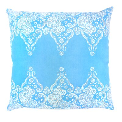 Monterey Paisley Throw Pillow Color: Aqua