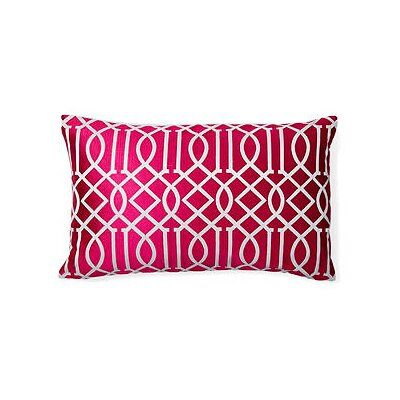 Vail Trellis Indoor/Outdoor Lumbar Pillow Color: Dark Pink