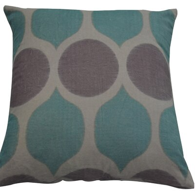 Fez Throw Pillow Color: Linen/Spa Blue