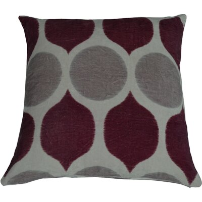 Fez Throw Pillow Color: Chocolate/Burgundy