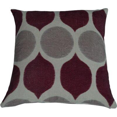 Fez Throw Pillow Color: Chocolate/Burgundy