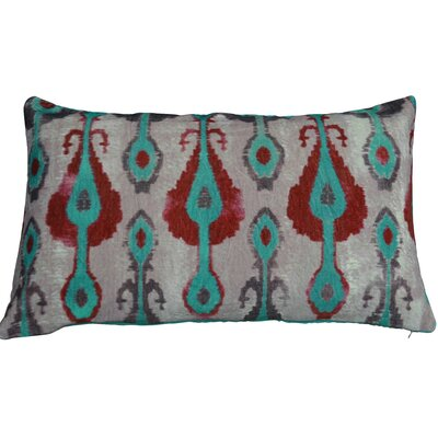 Casablanca Lumbar Pillow Color: Turquoise/Orange/Chocolate