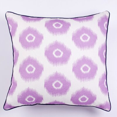 Vibrant Ikat Indoor/Outdoor Throw Pillow Color: Light Purple