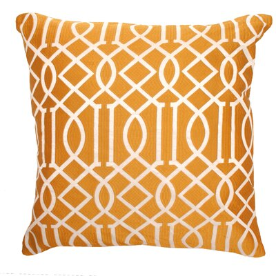 Vail Trellis Indoor/Outdoor Throw Pillow Color: Orange