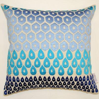 Megha Indoor/Outdoor Throw Pillow Color: Blue