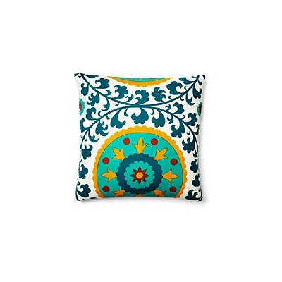 Suzani Pillow Indoor/Outdoor Throw Pillow Color: Turquoise