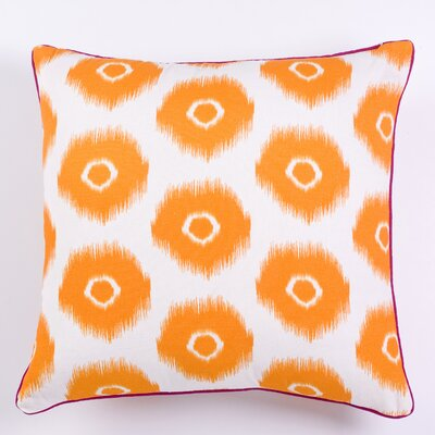 Vibrant Ikat Indoor/Outdoor Throw Pillow Color: Yellow