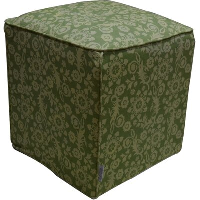 Roopa Pouf Ottoman Upholstery: Green