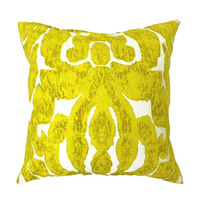 Carmel Scroll Pillow Color: Yellow