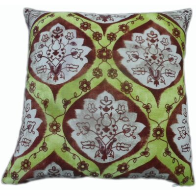 Casablanca Throw Pillow Color: Yellow/Chocolate