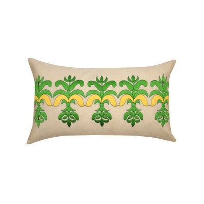 Bea Flex Linen Lumbar Pillow Color: Green