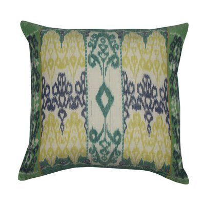 Ikat 100% Cotton Throw Pillow