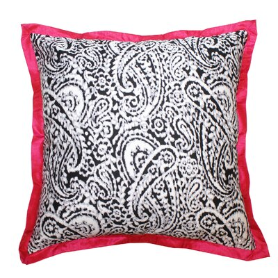 Lady Paisley Cotton Throw Pillow Color: Pink