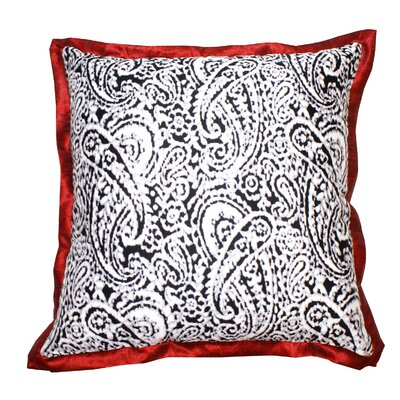 Lady Paisley Cotton Throw Pillow Color: Burgundy