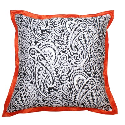 Lady Paisley Cotton Throw Pillow Color: Orange