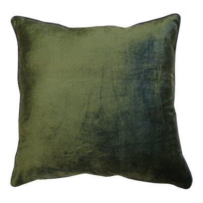 Velour Velvet Pillow Color: Emerald