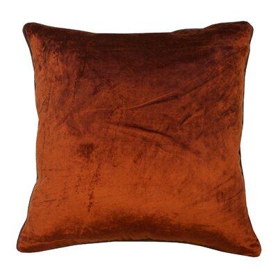 Velour Velvet Pillow Color: Rust