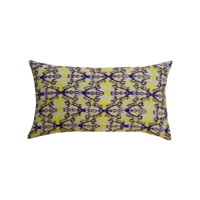 Rani Ikat 100% Cotton Lumbar Pillow Color: Lime