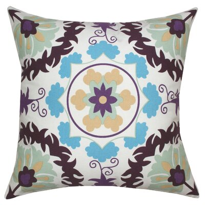 Suzani Ikat Cotton Throw Pillow