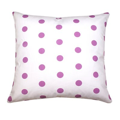 Ella Polka Dots Throw Pillow Color: Purple