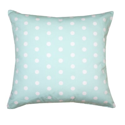 Ella Polka Dots Throw Pillow Color: Mint Green