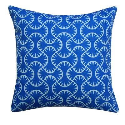 Maze Indoor/Outdoor Throw Pillow Color: Navy