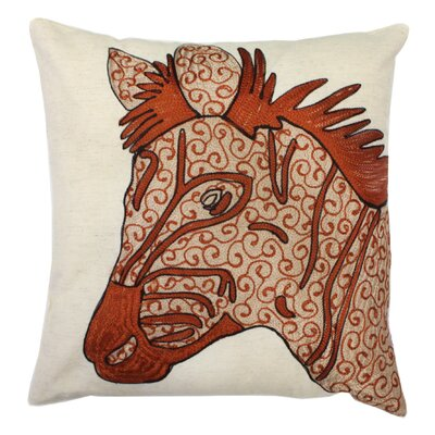 Zebra 100% Cotton Throw Pillow