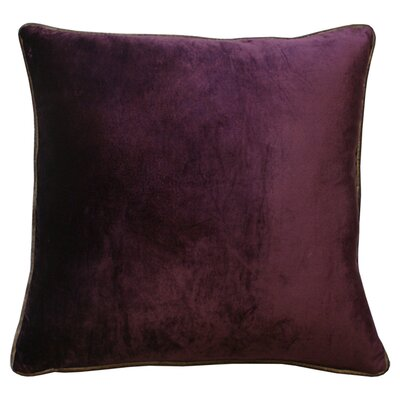 Velour Velvet Pillow Color: Wine