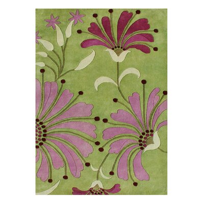 Alliyah Handmade Green/Pink Area Rug